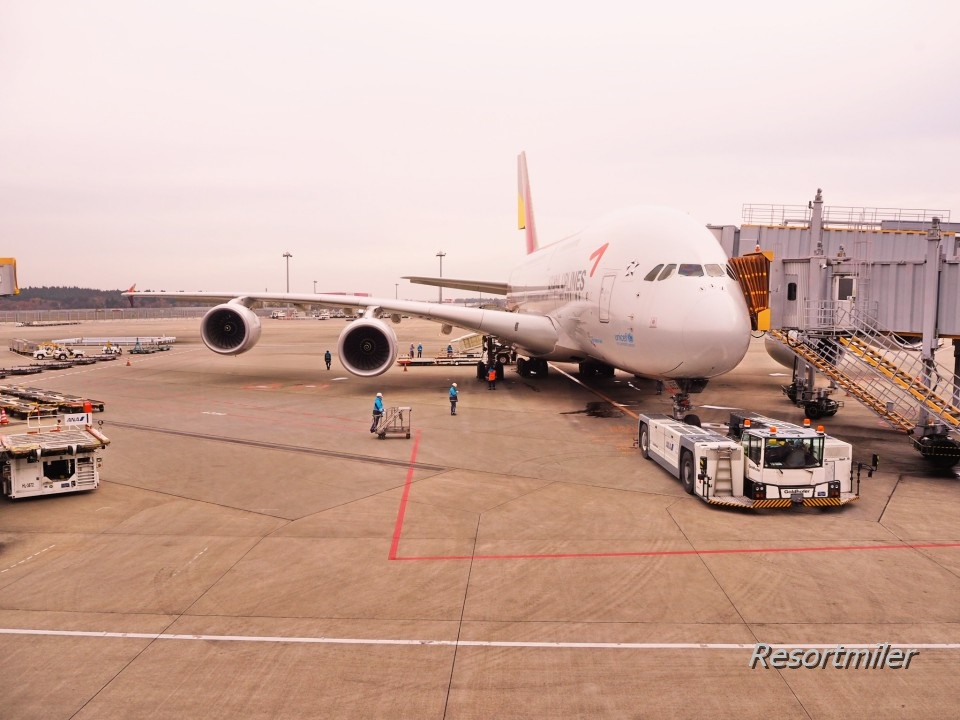 アシアナ航空A380ビジネスクラス搭乗記(OZ101)