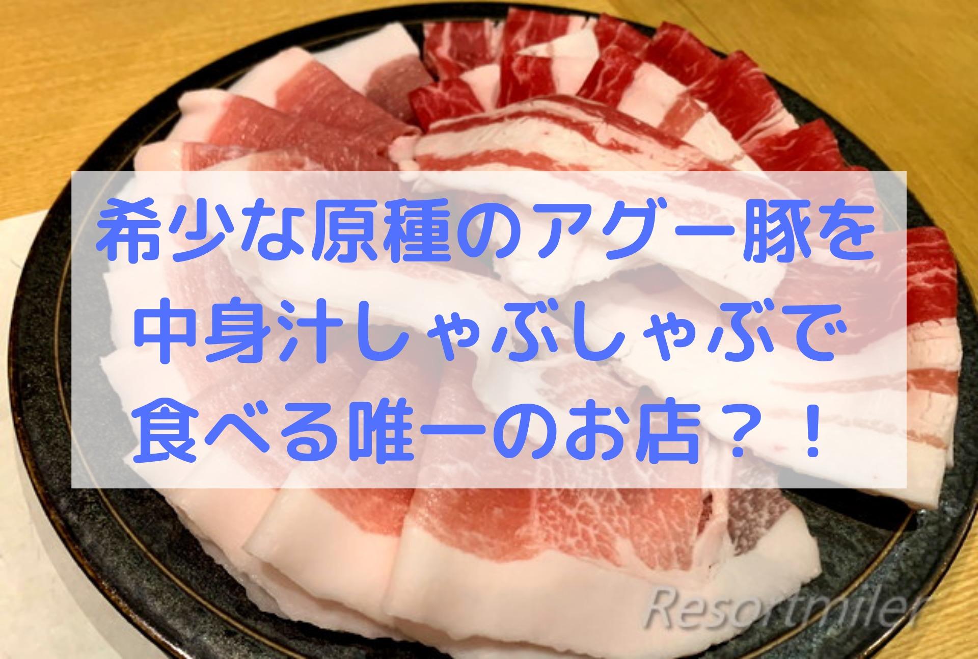 しゃぶしゃぶ専門店「たくよし」でアグー豚原種の黒琉豚を堪能!