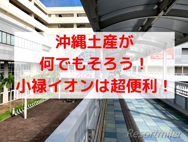 沖縄土産は小禄のイオンで買おう!スーツケース持参もOK♬